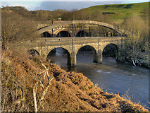 SD7506 : River Irwell, Prestolee Bridge by David Dixon