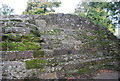TQ5846 : Ruined wall, Tonbridge Castle by N Chadwick
