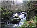 SH7518 : Falls on Afon Clywedog by John Winder