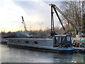 SJ9197 : Ashton Canal, Guide Bridge Boatyard by David Dixon