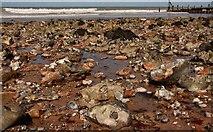 TG2142 : Cromer Beach - Pebbles by John Salmon