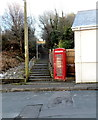 SS8383 : Red phonebox and a flight of steps, Victoria Road, Kenfig Hill by Jaggery