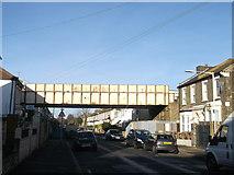 TQ4085 : Railway bridge over Latimer Road, Forest Gate  by David Anstiss