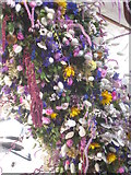 SX4268 : A close up view of the Cotehele Christmas garland by Rod Allday