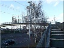 TQ4384 : Footbridge over the A406  by David Anstiss