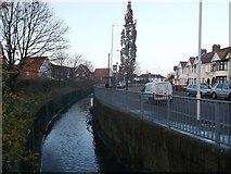 TQ4585 : Loxford Water beside South Park Drive (2) by David Anstiss
