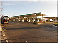 SP3457 : Fuel Forecourt, Warwick Services by David Dixon