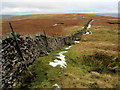 SD8977 : Boundary Wall on Horse Head Moor - North West by Chris Heaton