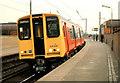 NS5566 : Train, Partick station (1985) by Albert Bridge