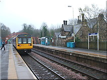NZ0161 : Riding Mill railway station, Northumberland by Nigel Thompson