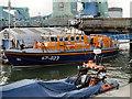 SZ0090 : Lifeboat Moorings at Poole Bridge by David Dixon