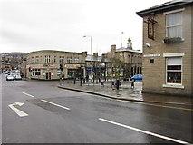 SK0394 : High Street West from Norfolk Street, Glossop by Ian S