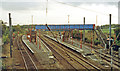 TL2404 : Brookmans Park station, East Coast Main Line, 1993 by Ben Brooksbank