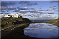 NC8269 : Calm day at Strathy Point Lighthouse by Peter Moore