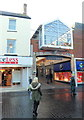SS9079 : An entrance to The Rhiw Shopping Centre, Bridgend by Jaggery