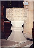 SK2381 : St Michel & All Angels, Hathersage - Font by John Salmon