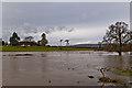 TQ2348 : Flooded River Mole at Flanchford Bridge by Ian Capper