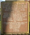 NS3975 : Boer War Memorial: inscription by Lairich Rig