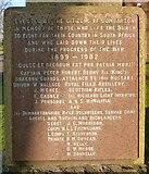 NS3975 : Boer War Memorial: inscription by Lairich Rig
