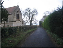 TF0684 : Lane by the church, Faldingworth by Jonathan Thacker