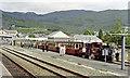 SH7045 : New (1982) Blaenau Ffestiniog station, with Ffestiniog Railway train by Ben Brooksbank