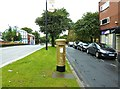 SD5817 : Sir Bradley Wiggins' gold post box by Ann Cook