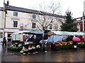 SE9907 : Two stalls in Brigg market place by Christine Johnstone