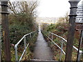 ST1167 : Path from Clive Road to the waterfront, Barry Island by Jaggery