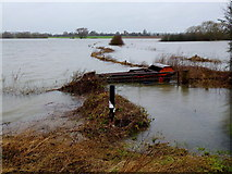 SO8625 : Flooded Leigh Brook, 1 by Jonathan Billinger