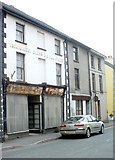 SN7634 : Unrestored part of Jubilee Stores, Llandovery by Jaggery