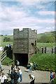 NY7666 : Reconstruction of tower and turf wall, Vindolanda by Phil Champion