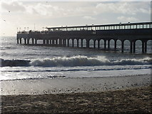 SZ1191 : Boscombe: the pier on a glorious New Year's Day by Chris Downer