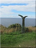 NJ4768 : Millennium milepost by Richard Webb