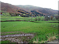 NY3308 : Grass fields near Underhelm Farm by Graham Robson
