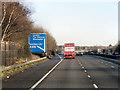 SU4421 : Northbound M3 at Junction 12 by David Dixon