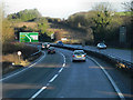 SU4930 : Northbound A34, Winchester Bypass by David Dixon