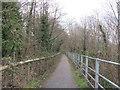 ST0893 : Lon Las Cymru between Abercynon and Cilfynydd by John Light