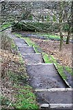 NT2774 : Steps Down to the Meadowbank Exit of Holyrood Park by Mick Garratt