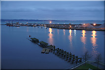 NT2677 : Western harbour, Leith docks by Mike Pennington