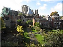 SE6052 : York - View southwest to The Minster from City Walls by Colin Park