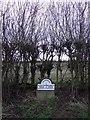 NZ4425 : Boundary stone and hedgerow, Wolviston Mill Lane by JThomas