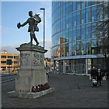 TL4557 : Repositioned War Memorial by John Sutton