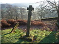 ST4698 : Churchyard cross at Kilgwrrwg church. Monmouthshire by Jeremy Bolwell