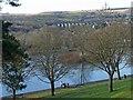 SO0307 : The view over Cyfarthfa Park Lake, Merthyr Tydfil by Robin Drayton
