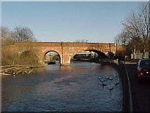 SU7373 : Railway Bridge over the River Kennet by Tim Glover