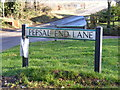 TL0818 : Pepsal End Lane sign by Adrian Cable