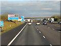 SP5427 : Northbound M40, Ardley Road Bridge by David Dixon