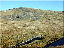 SN7987 : Pen Cerrig Tewion from Llyn Llygad Rheidol by Nigel Brown