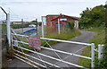 ST5276 : Entrance gate to Sea Cadets site, Shirehampton, Bristol by Jaggery