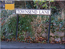 TL1314 : Townsend Lane sign by Adrian Cable